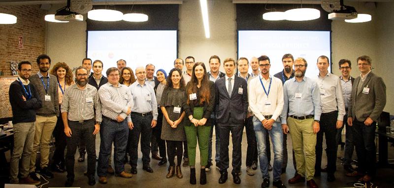 """Miembros del consorcio de 11 empresas y centros de investigación que forman parte del proyecto """"Upscale"""" para integrar la inteligencia artificial (IA) en el desarrollo de vehículos eléctricos."""