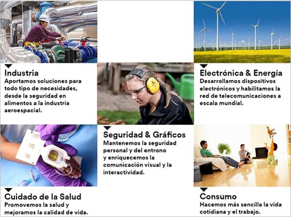 3M mantiene un constante lanzamiento de productos innovadores para industria, electrónica y energía, seguridad y gráficos, consumo y cuidado de la salud.