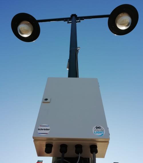 Sistema VolumLightTM instalado en las luminarias de una de las avenidas de Alcoy (Murcia).