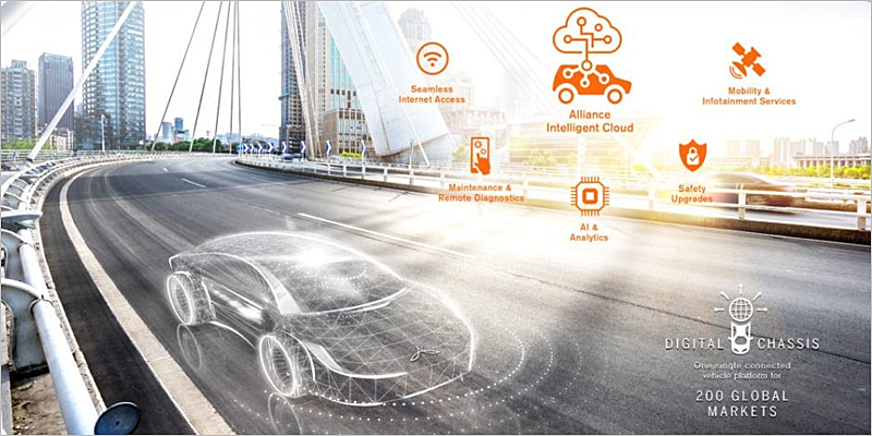 """Renault, Nissan y Mitsubishi Motors se unen a Microsoft para lanzar la plataforma de coche conectado """"Alliance Intelligent Cloud""""."""