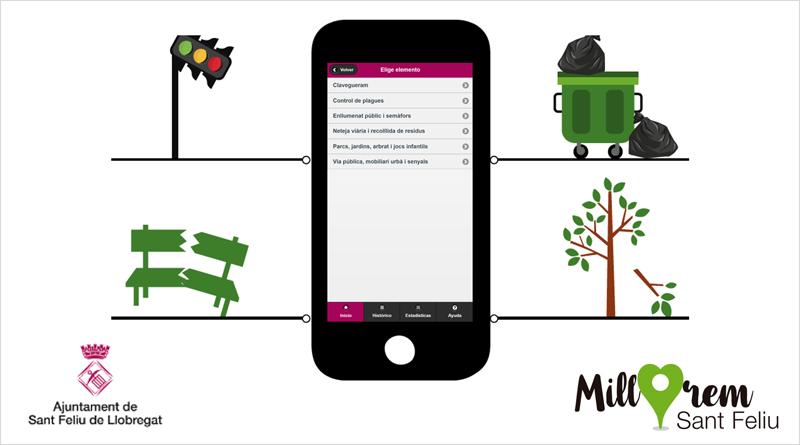 La aplicación móvil ha sido desarrollada por Rosmiman y fomenta la implicación activa de los ciudadanos, ya que pueden comunicar las incidencias que detecten en la vía pública.
