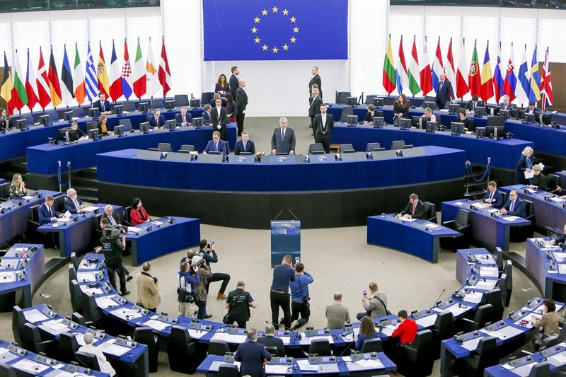Sesión plenaria del Parlamento Europeo del 12 de marzo, fecha en la que se aprobó la modificación en la Directiva de Cibereseguridad.