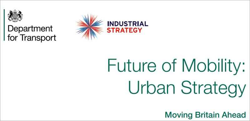 """Reino Unido ha publicado """"El futuro de la movilidad: una estrategia urbana""""."""
