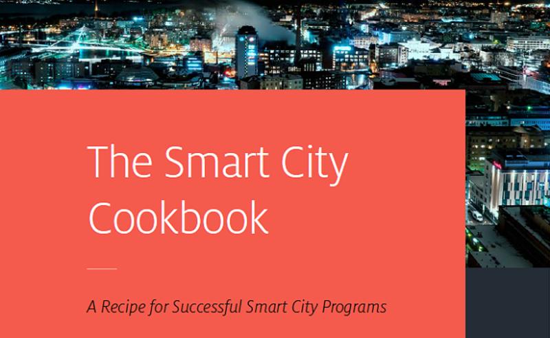 """Parte de la portada del libro """"The Smart City Cookbook"""", una guía con experiencias de Tampere en su desarrollo como smart city."""