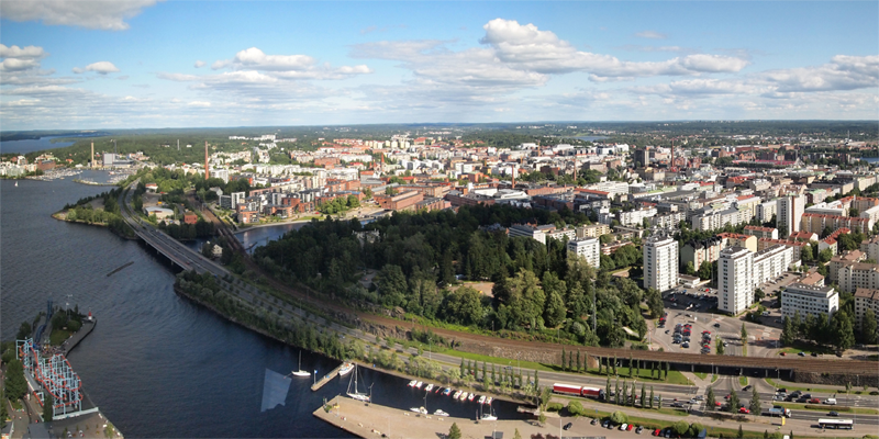 Vista de la ciudad de Tampere, Finlandia, que desarrolla su proyecto de ciudad inteligente.