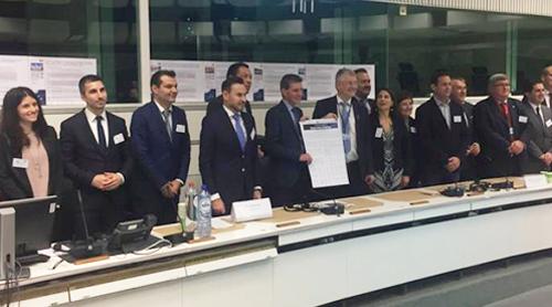 """Seminario del proyecto """"Digital Cities Challenge"""" celebrado en Bruselas, con la participación de Alcoy, donde se dio a conocer la continuación del programa de digitalización de ciudades con la iniciativa """"Intelligent Cities Challenge""""."""