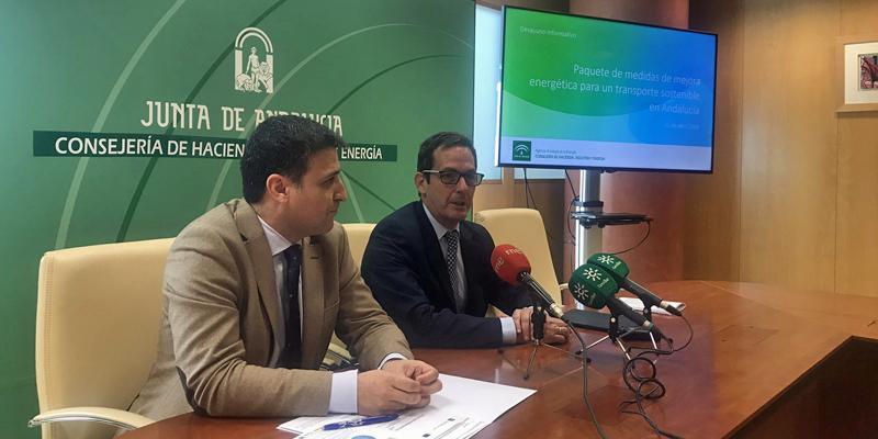 Presentación del Paquete de medidas de mejora energética para un transporte sostenible en Andalucía que ha dado a conocer la Agencia Andaluza de la Energía, en el que se incluyen los incentivos del Plan Moves.