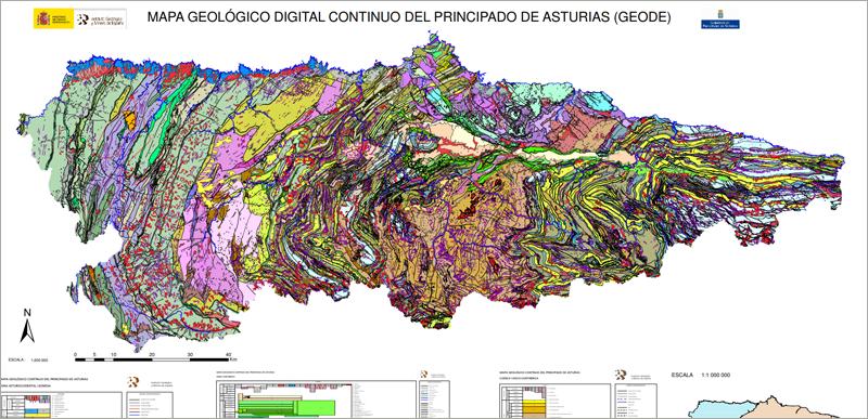 Uno de los mapas del Principado de Asturias disponibles en su sistema Sitpa, que ahora pasa a modernizarse a través del contrato adjudicado a la UTE formada por Eptisa y Sadim Ingeniería.