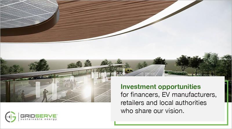 Las Electric Forecourt tendrán espacio para cafeterías, comercios y zonas de ocio.
