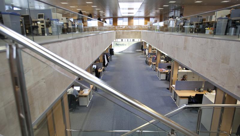 Oficinas de la sede de la empresa de servicios TI Ibermática.