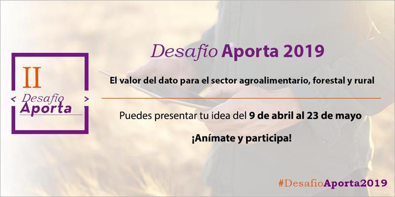 El Desafío Aporta implica que los participantes utilicen, al menos, un conjunto de datos abiertos generados por las administraciones públicas.