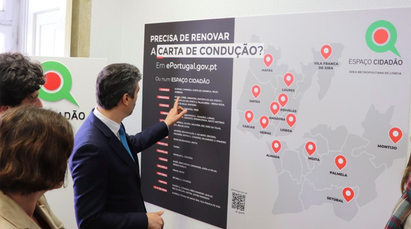 Reciente inauguración de uno de los espacios ciudadanos de Portugal, donde se facilita a los ciudadanos el acceso a los servicios de Administración electrónica.