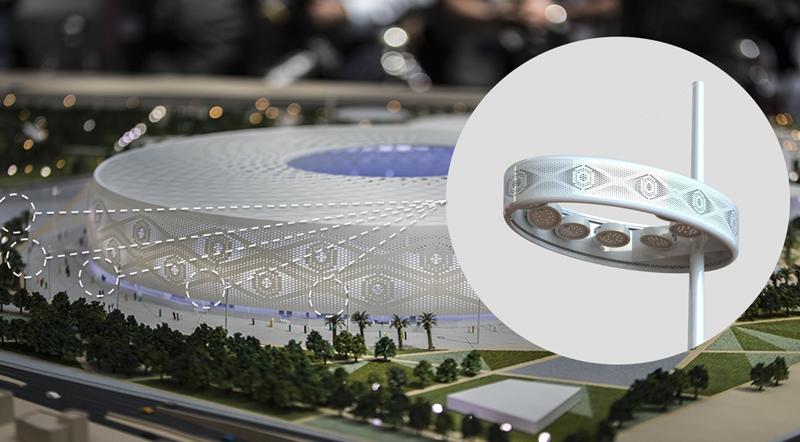 Salvi está trabajando también en la iluminación del estadio Al Thumama, otro de los que se están construyendo para el Mundial de Catar 2022.