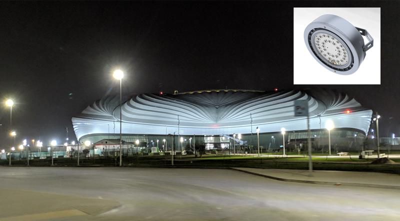 La luminaria modelo Circus es la que se ha utilizado en el proyecto de exterior de Al Wakra.