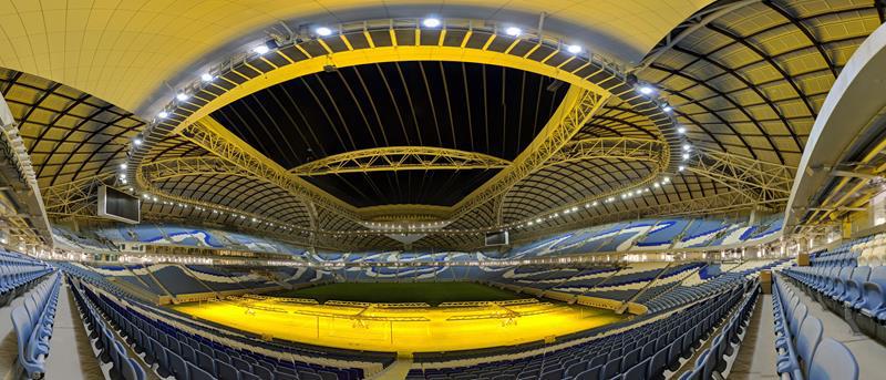 La propia estructura del estadio mejora el sistema de refrigeración del estadio.