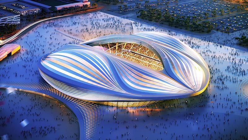 El estadio Al Wakrah, en cuya iluminación ha participado la empresa española Salvi Lighting Barcelona, albergará la final del Mundial de Fútbol Catar 2022.