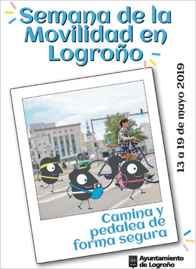 Cartel de la Semana de la Movilidad de Logroño.
