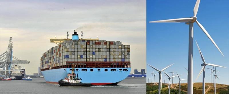 El Puerto de Rotterdam se encuentra rodeado de una gran cantidad de aerogeneradores y paneles solares que suministran energía a la red eléctrica.