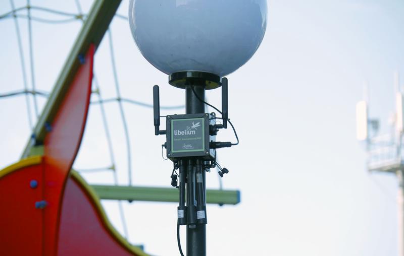 Uno de los dispositivos de Libelium instalados en un parque de Toliatti.