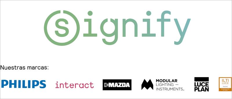 Signify desarrolla diferentes productos y servicios en cada una de sus marcas.