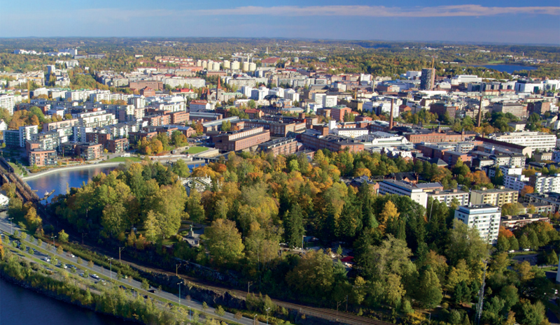 Imagen aérea de Tampere.