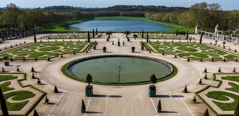 Parte de los jardines de Versalles, en Francia, donde se desarrollan pruebas de Autopilot.