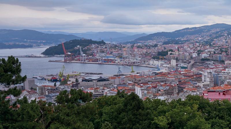 Imagen de la costa de la ciudad de Vigo.