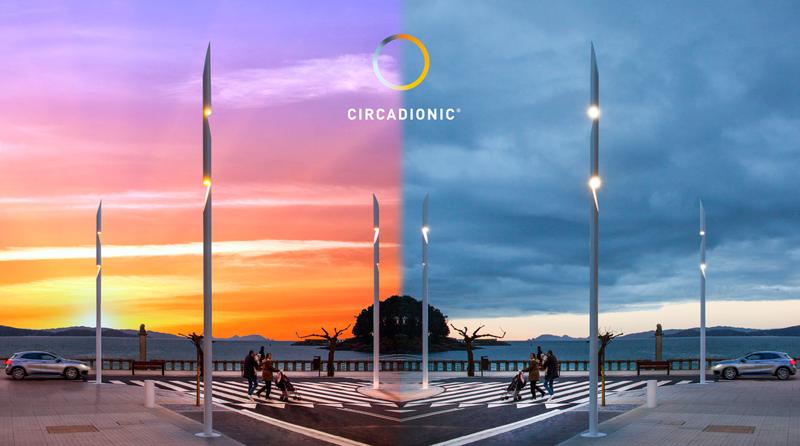Circadionic es la tecnología patentada por Setga para adaptar los niveles de luz y la temperatura de color del alumbrado público.