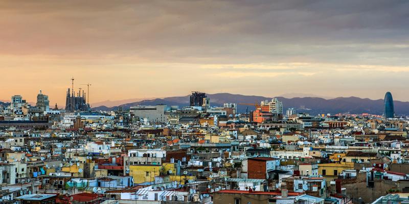 Vista de skyline de Barcelona.