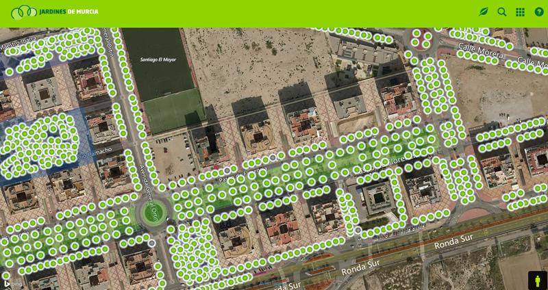 """El sistema se llama """"Arbomap"""" y se ha convertido en un inventario de parques, jardines y mobiliario urbano de la ciudad, con información asociada de su estado y labores de mantenimiento."""