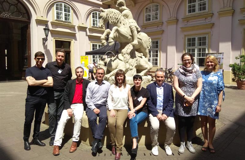Representantes de las ciudades participantes en el proyecto ARCH, incluida Valencia, en la primera reunión celebrada en Bratislava.