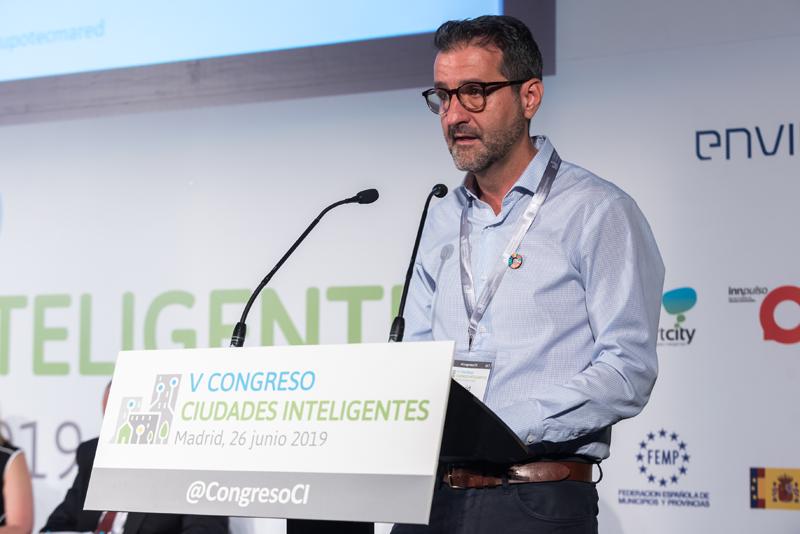 El director general de Red.es durante su intervención en el reciente V Congreso Ciudades Inteligentes celebrado en Madrid.