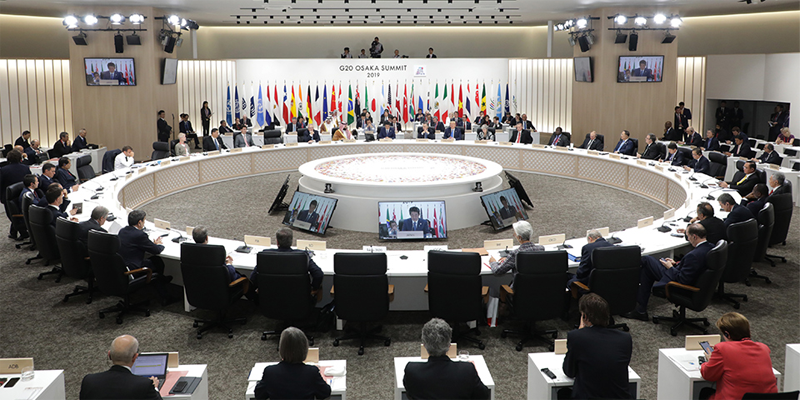 Una de las reuniones de la Cumbre del G20 celebrada en Osaka (Japón) los días 28 y 29 de junio, de la que ha surgido la Alianza Global de las Ciudades Inteligentes.
