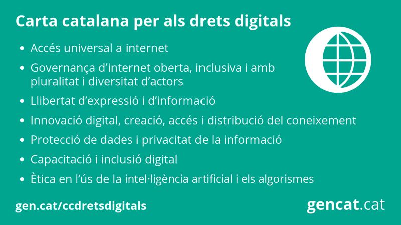 La Carta recoge derechos de las personas, en su versión digital, derechos digitales nuevos y emergentes, y derechos del siglo XXI.