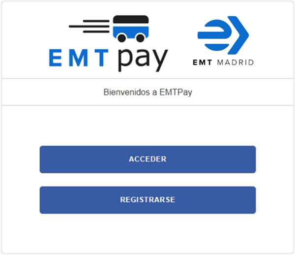 Figura 3. Portada de EMT Pay.