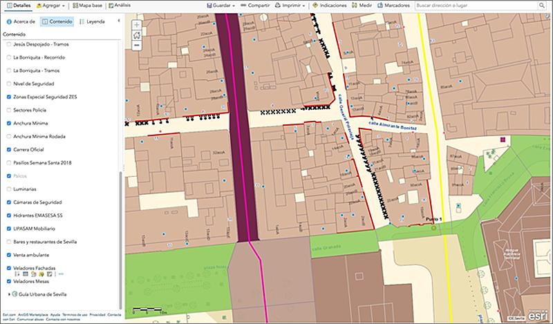 Figura 3. Mapa de las características urbanísticas de una zona concreta.