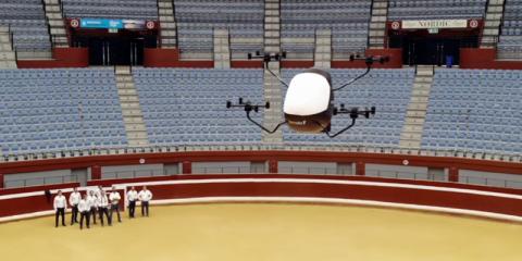 El primer aerotaxi español está propulsado por drones independientes y estará operativo en cinco años