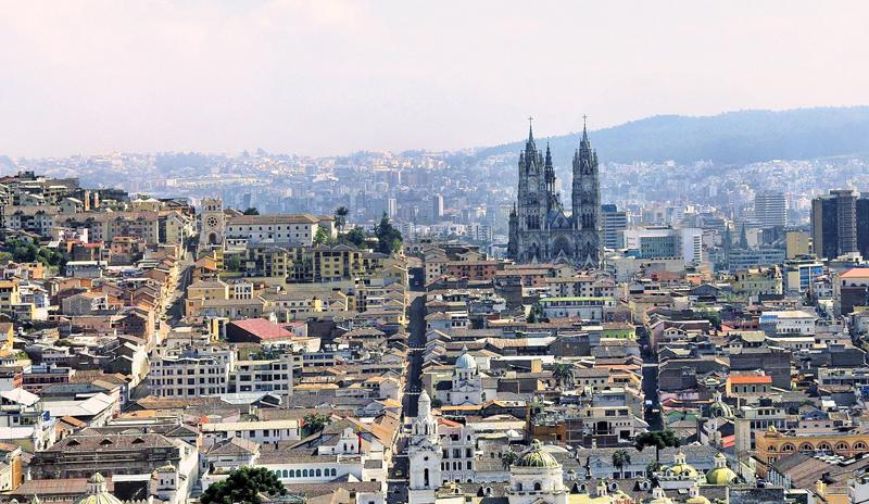 Perfil de la ciudad de Quito.