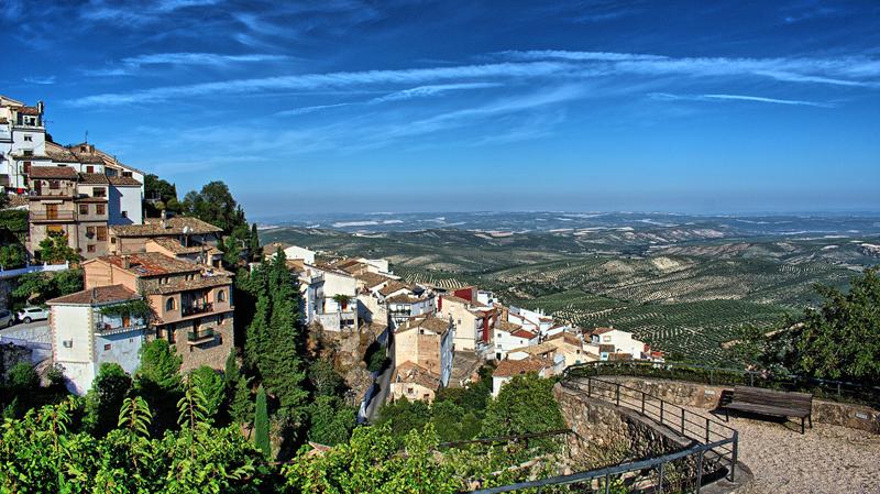 Paisaje de un pueblo de Andalucía.
