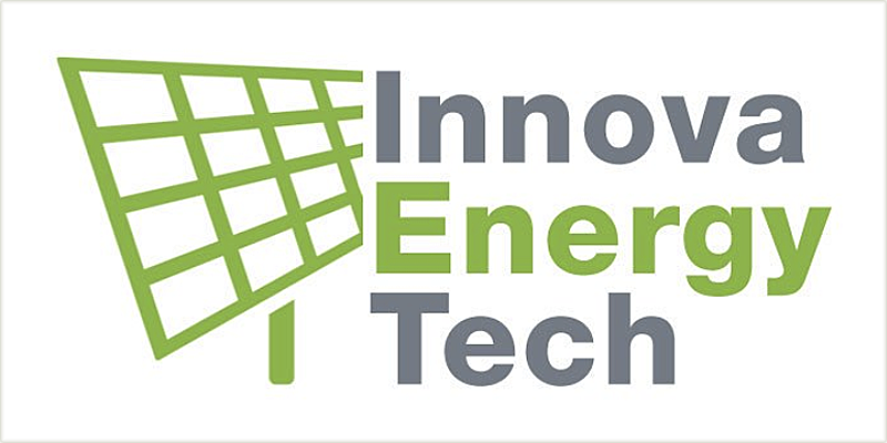 Logo de la Línea Innova Energy Tech con una placa solar dibujada.