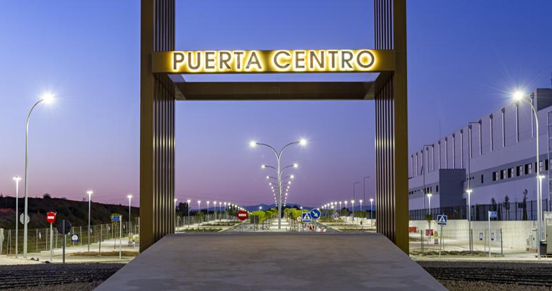 Imagen de la entrada a este espacio de transporte y logística Puerta Centro.