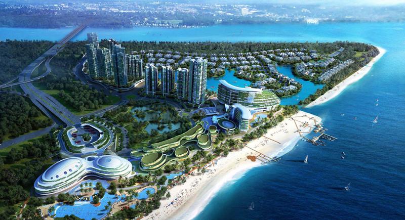 La primera fase de desarrollo, que se construye desde 2016 y estará lista en 2021, incluye viviendas, un centro de exposiciones, galerías comerciales y un intercambiador de transportes.