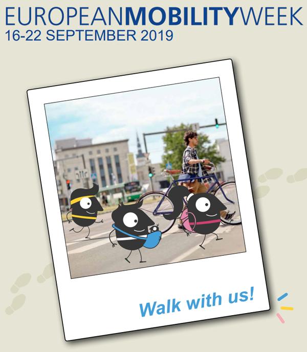 Carte promocional de la edición XVII de la Semana Europea de la Movilidad