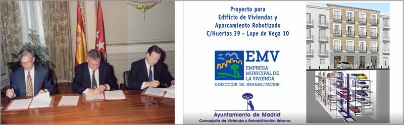 Tres representantes de las administraciones durante la firma.