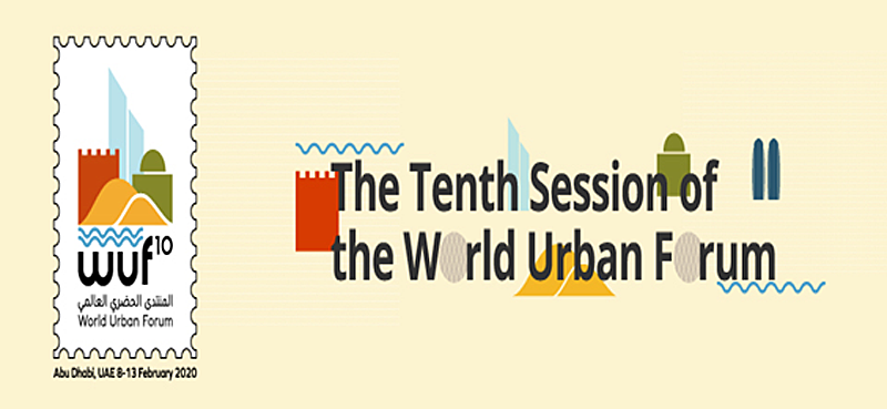 Logo donde se lee The Tenth Session of The World Urban Forum