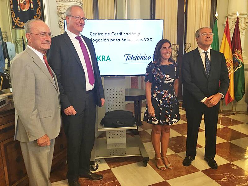 Presentación del proyecto para crear el Centro de Certificación y Homologación para Soluciones V2X de Málaga.