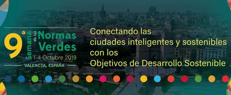 Cartel de la 9ª Semana de las Normas Verdes que se celebra en Valencia