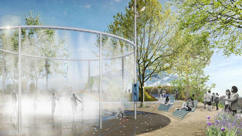 Los anillos climáticos forman parte del todo el sistema diseñado para aportar confort ambiental en el campus.
