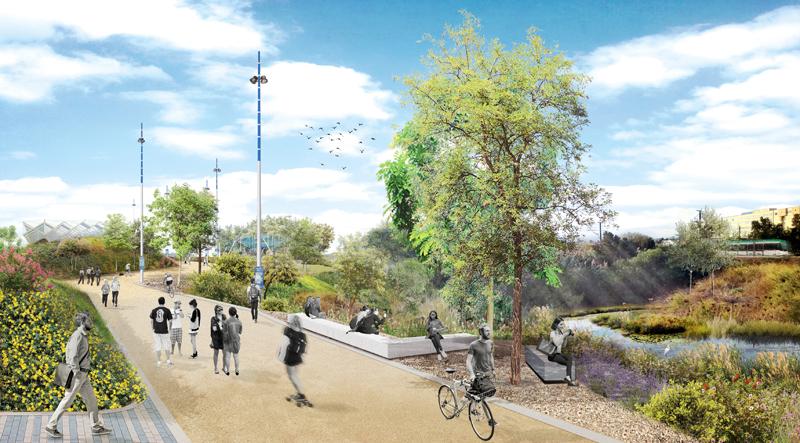 El bulevar Pasteur une las principales facultades del campus y se convertirá en un corredor verde.