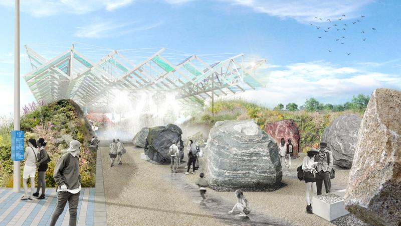 Se incorporarán códigos QR destinados a comunicar o enseñar conceptos relacionados con las ciencias y disciplinas que se estudian en la UMA, y con el propio entorno del bulevar, como en el jardín de piedras.